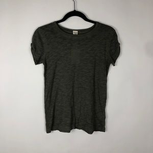 Free People Tops - We the Free Free People Clare Tee Roll Sleeve Sage